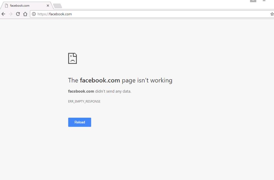 Nguyên nhân của lỗi chrome không vào được facebook