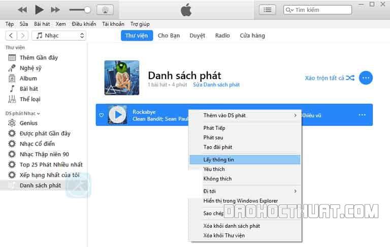 iTunes để cài nhạc chuông iphone đơn giản