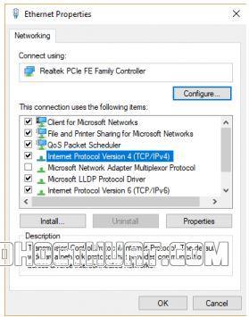 Thay đổi địa chỉ DNS Server
