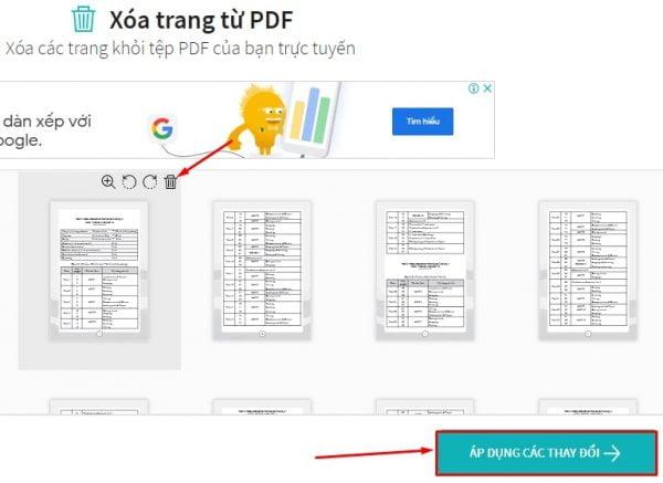 Xóa trang trắng trong PDF bằng website trực tuyến