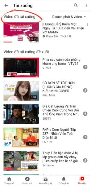 download video youtube về điện thoại