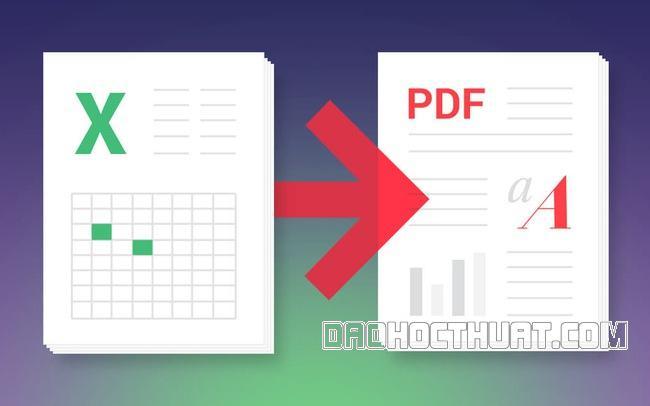 Cách đơn giản để chuyển đổi file Excel sang PDF