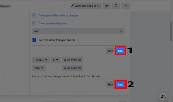 Tìm hiểu cách ẩn ngày sinh Facebook trên máy tính
