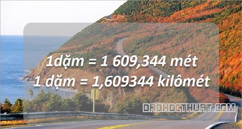cách quy đổi dặm ra kilomet