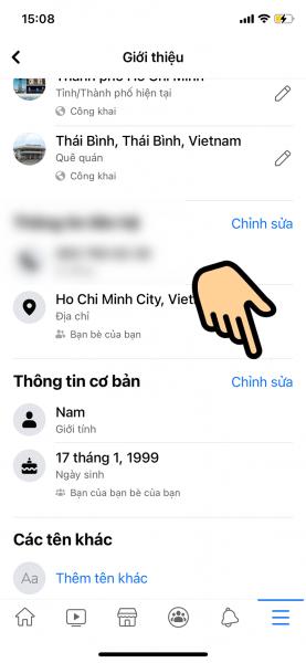 Hướng dẫn cách ẩn ngày sinh trên Facebook dành cho điện thoại
