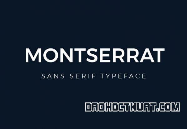 Font Montserrat là gì