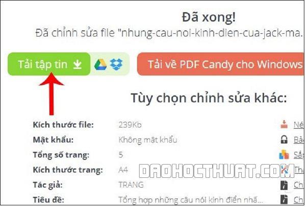 Chèn số trang online cho PDF Foxit Reader