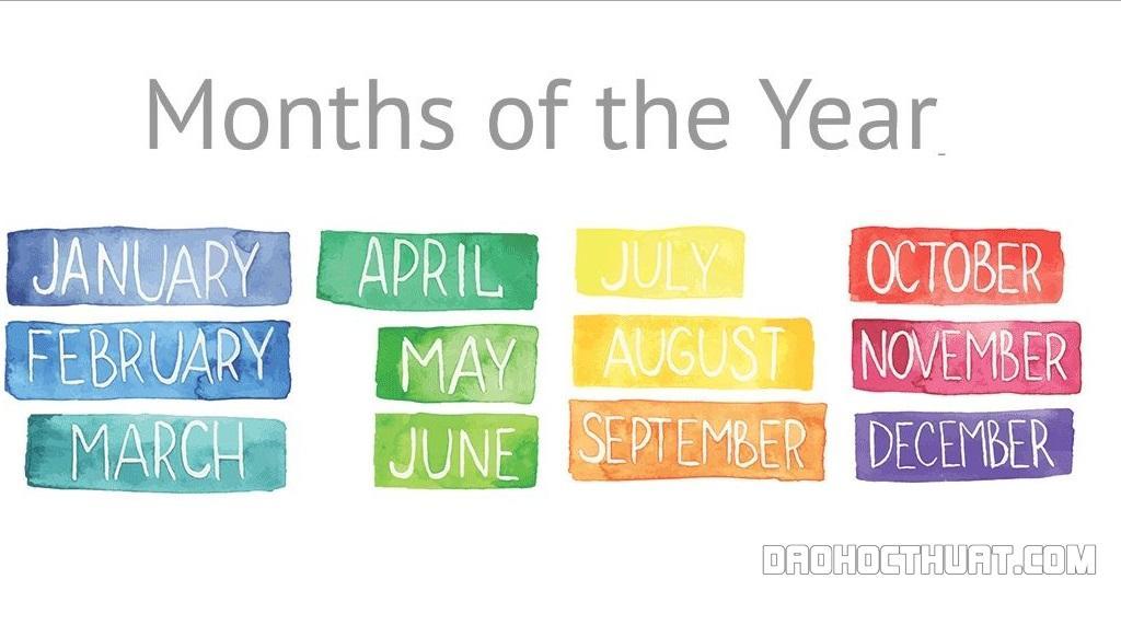 Cách đọc và viết các tháng trong tiếng anh siêu đơn giản