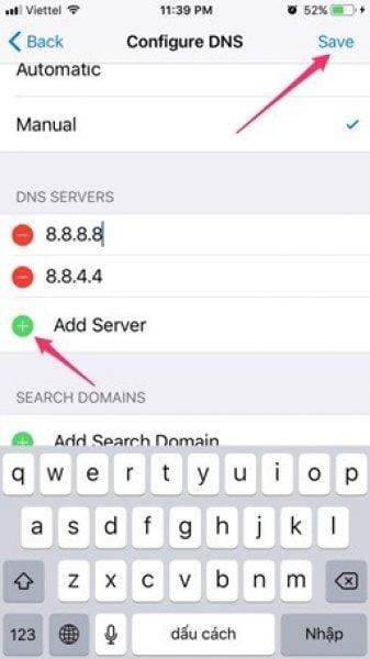 Đổi DNS trên iPhone