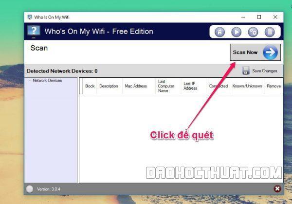 mẹo chặn sử dụng wifi trên PC bằng phần mềm Who is my wifi