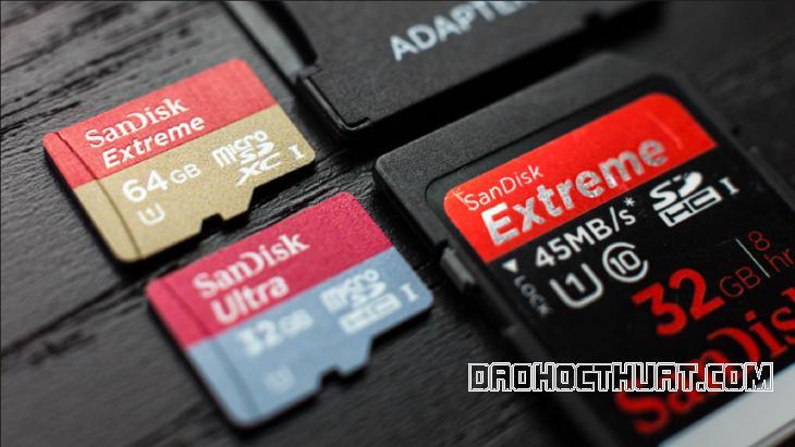 thẻ nhớ không format được copy hay xóa đều không được