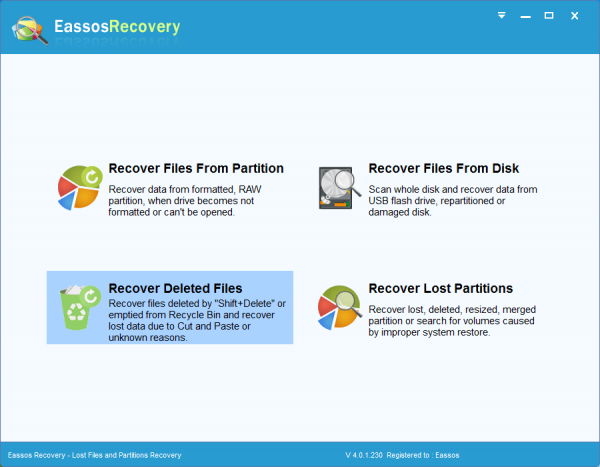 Phần mềm Eassos Recovery