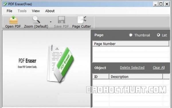 Xóa chữ trong file pdf bằng eraser