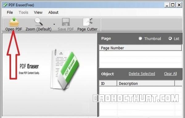 Xóa chữ nhanh chóng trong file pdf