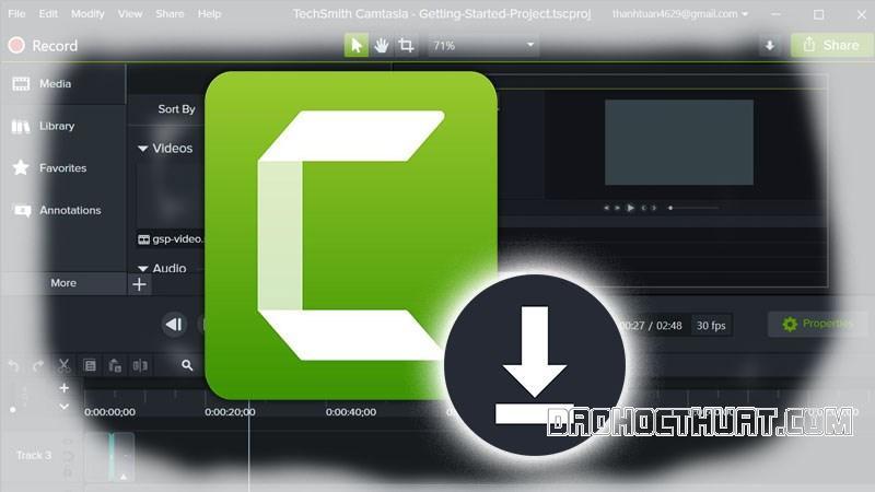 Hướng dẫn cách Download Camtasia Studio 9.1 Full Crack cho máy tính