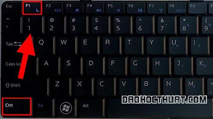 Sử dụng phím tắt mở thanh công cụ
