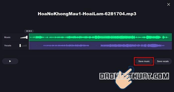 Mẹo tách nhạc và lời bài hát bằng phần mềm Vocal Remover