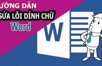 Cách sửa lỗi dính chữ trong Word 2010