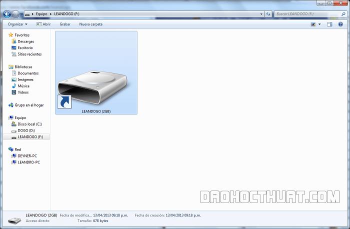 Nhận biết tình trạng USB bị nhiễm virus shortcut