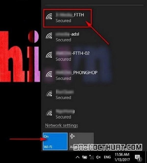 Tip bật wifi cho máy tính Lenovo Windows 10