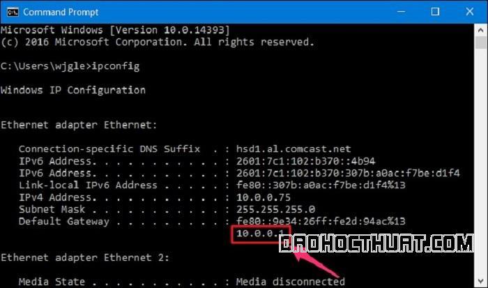 Cách tìm địa chỉ IP của mạng modem wifi trên máy tính Windows 10