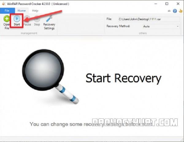 Mẹo phá pass files chứa mật khẩu winrar với ứng dụng Winrar Password Cracker