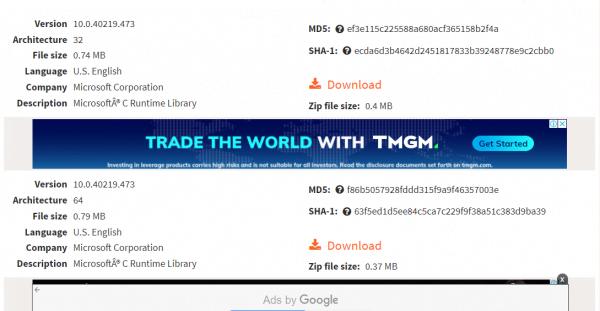 Tìm và tải file msvcr100.dll mới để sửa lỗi
