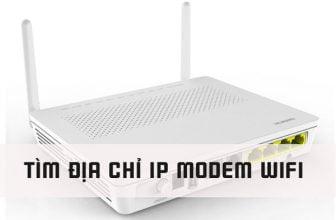 Tìm địa chỉ IP của Modem Wifi đơn giản
