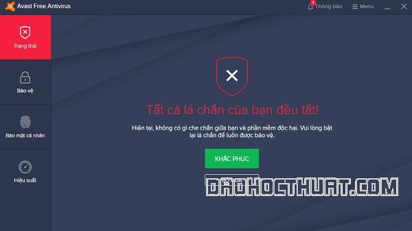 Mẹo tắt ứng dụng Avast free antivirus hoàn toàn