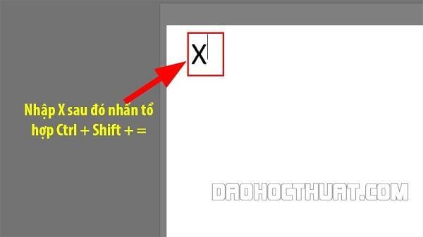 Cách viếu số mũ lũy thừa (chỉ số trên) trong Word