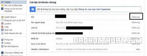 những cách sửa lỗi đổi tên trên Facebook quá nhiều lần