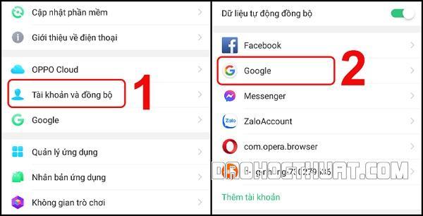Đồng bộ số điện thoại danh bạ với gmail