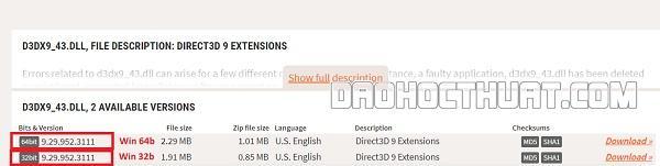 cách sửa lỗi d3dx9_43.dll thông dụng