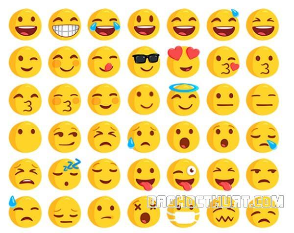 các biểu cảm icon trong Facebook