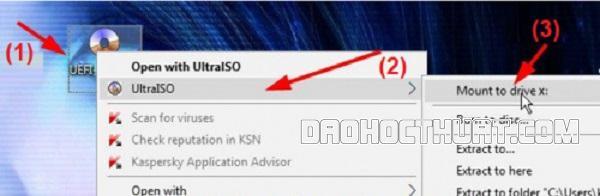 Cách chuyển đổi file ISO để tạo ổ đĩa ảo Win 10