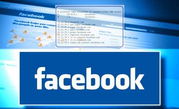 Cách vào Facebook bằng file host khi bị chặn