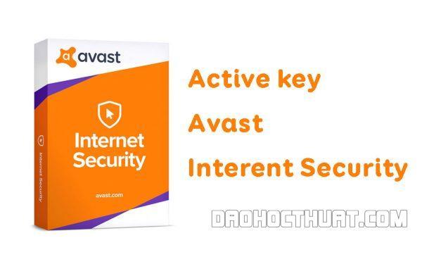 Share key Avast Internet Security mới nhất