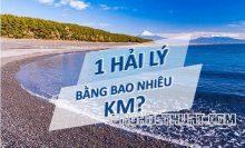 Hải lý là gì? 1 Hải lý bằng bao nhiêu Km?