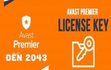 Share key Avast Premier bản quyền đến 2043