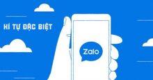 30+ Kí tự đặc biệt Zalo – Cách đặt tên Zalo đẹp