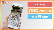 Cài video làm màn hình khóa cho điện thoại iPhone